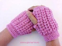 6a8ec42af84 Protege tus manos este invierno con unos mitones de ganchillo