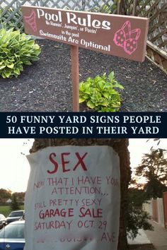 Some people use lawn signs to communicate their individuality. And sometimes a lawn sign is just to notify passersby. Either way, these signs can be hilarious. Here are 50 funny yard signs that will make you do a double take: