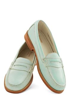 outing a classic silhouette in a refreshing, minty aqua hue, these leather slip-ons are a reliable way to add a simple yet striking touch to your look.