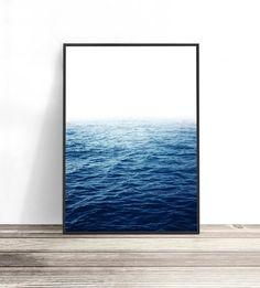 Photography Art Print Ocean Print Ocean Photography Print So Happy, Simple Prints, Modern Art Prints, Grand Art Mural, Water Printing, Coastal Wall Art, Ocean Photography, Ocean Art, Beach House Decor