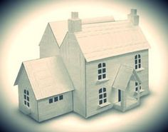 European House In Tudor Style Paper Model - by Did Wallpaper - == - You need only two sheets of paper to build this beautiful paper model of a European House in Tudor Style, shared by Did Wallpaper, a South Korean website. Christmas is coming and this li Christmas Village Houses, Putz Houses, Christmas Villages, Christmas Home, Christmas Minis, Gingerbread Houses, Fairy Houses, Cardboard Crafts, Paper Crafts