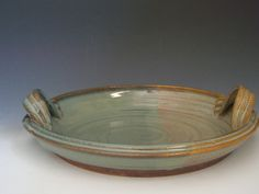 Hand thrown stoneware pottery serving platter (SP-A)
