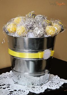 A Grey and Yellow Chevron Themed Baby Shower | simplytangerine.com