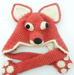 Fox Hat with Paws pattern by Wistfully Woolen
