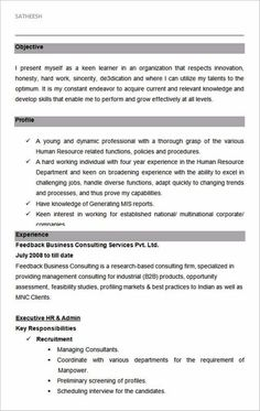 Private Sector Resume  My Career Journal    Resume