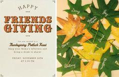 Fall Thanksgiving Table Names