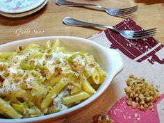 Ricetta: Pasta con Porri , Gorgonzola e Noci