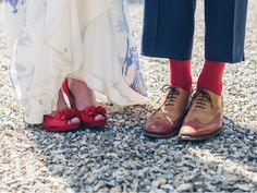 Fancy feet for a red, white, and blue wedding! America the Beautiful: Independence Day Inspiration | RILEY AND GREY #rileyandgrey #rocknrollbride