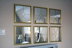 DIY Mirrors - pattern drawn with gold marker. Great idea!