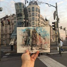 """Sketch Book culturenlifestyle: """"Latvian graphic designer and illustrator Ieva Ozola has made it her mission to sketch the location of every place she visits daily. As a current resident of Prague, Ozola began. Travel Sketchbook, Art Sketchbook, Art Sketches, Art Drawings, Illustrator, Art Hoe, Urban Sketching, Graphic, Prague"""