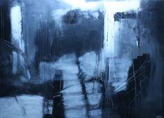 Mystery 100x140x4  Impressive artwork in black and white.  Price DKK 21.000