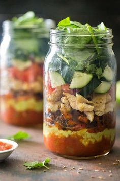 Mason Jar Healthy Taco Salad. Straight from the Whole30 plan.