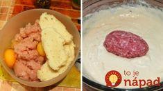 Zabudnite na obyčajné fašírky, toto chutí omnoho lepšie. Mashed Potatoes, Sausage, Grains, Meat, Ethnic Recipes, Food, Cooking, Whipped Potatoes, Smash Potatoes