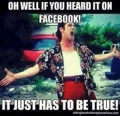 """Me when people be like """"well Facebook said it would rain """""""