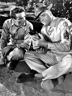 Montgomery Clift and Burt Lancaster in From Here to Eternity, 1953 Don't Let, Let It Be, From Here To Eternity, Montgomery Clift, Hollywood, Lancaster, New York City, Movie Tv, The Past