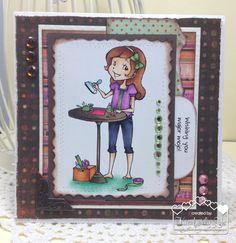 Handmade Greeting Card/Wishing You Major Mojo by kimbeesdesigns on Etsy