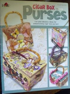 Cigar Box Purses Plaid Craft Book by GemRio on Etsy, $3.00