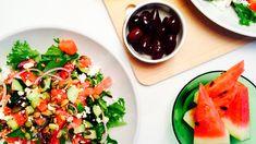 Salat med vannmelon & feta