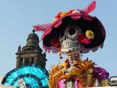La Catrina, symbol of Mexico's de Día Los Muertos, created by José Guadelupe Posada in the early 1900s.
