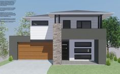 This impressive split level modern design has been crafted for both functionality and visual appeal. Breezeway, Build Your Dream Home, Open Plan Living, Modern House Design, Brisbane, Custom Homes, Facade, Living Spaces, House Plans