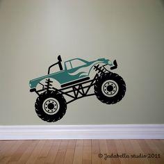 Monster truck wall decal!