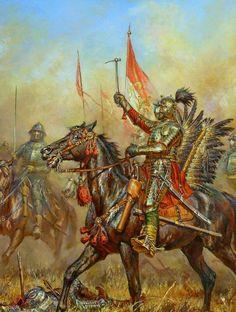 Lieutenant hussar.Porucznik husarski-Chocim 1621 by Anatoly F. Telenik.