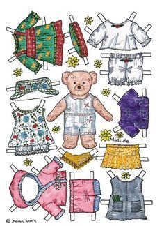 Bears paper dolls 49 » Раскраски распечатать бесплатно. Скачать новые картинки раскраски
