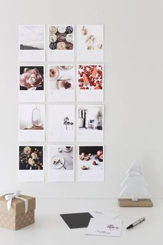 DIY instagram calendar via Anne Sage | DIY | decor | calendar | create | ideas | crafts | fun | Schomp Honda