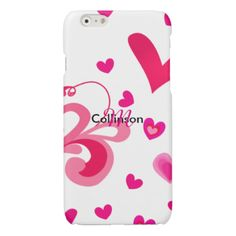 So sweet and feminine in pink and white this design is just the thing for all those females who love pretty pink things. A graphic pattern of cute pink ditsy sweet love hearts; a fabulous way to protect your phone.device. Don't forget to customize it with your personal name or monogram for that extra special touch.