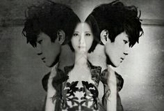 Sehun Seohyun mirror oh Sehun Seo Joo Hyun exo snsd exoshidae dark white