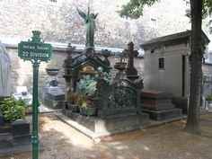 Paris....amazing works of art throughout the cemetery....