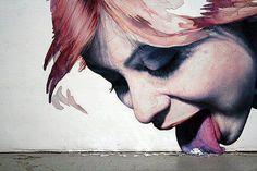 Street Art Little Britain Street/Little Green street Graffiti by Banksy Graffiti by kelly Street Art by Escif street art 3d Street Art, Murals Street Art, Urban Street Art, Amazing Street Art, Street Art Graffiti, Urban Art, Amazing Art, Graffiti Girl, Awesome