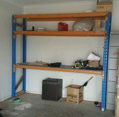 diy heavy duty garage shelves from steel   Home Interiors