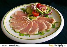 Sušená šunka z vepřové kotlety ve stylu prosciutto recept - TopRecepty.cz Prosciutto, Thing 1, Tuna, Pork, Steak, Fish, Pork Roulade, Pigs, Steaks