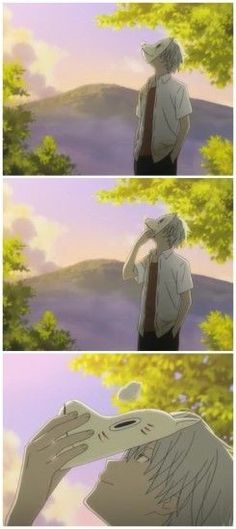 """Time might separate us someday, But even still, until then, let stay together."" Just notice that the word HOT is in HOTarubi no mori e Anime Gifs, Sad Anime, Otaku Anime, I Love Anime, Anime Manga, Anime Art, Hotaru No Mori E, Hotarubi No Mori, Natsume Yuujinchou"