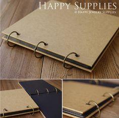 Kraft Paper Notebook / Photo ALBUM / Hand-painted Graffiti Day Book / DIY Leather Wedding Albums (KB05)