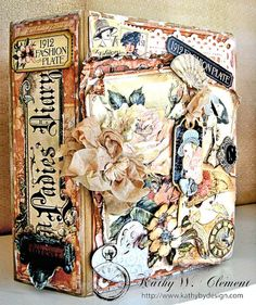 Shabby Chic Mini Album made with Graphic 45 A Ladies' Diary