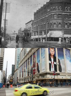 Granville St at Georgia St - 1907/2009