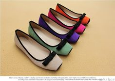 Leather women's Flat Shoes 2013 Summer Leather women's Flat Shoes Korean Style Square Toe Bowtie Shoes L XL Size -inFlats from Shoes on Aliexpress.com