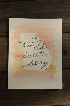 Just an old Sweet Song Georgia on my Mind by ginisis on Etsy, $16.50