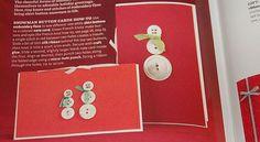 Tarjeta navideña con botones