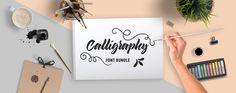 The Calligraphy Bundle is a stunning example of handmade fonts and decorative lettering. Save 94% off the RRP today. 40 PUA encoded fonts for only $29. The fonts work with any computer program and the glyphs included are fully accessible through Character Map for Windows or Font Book for Mac. Deal good until May 13.