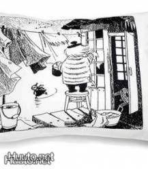 Finlayson siivousmuumi tyynyliina  -a pillowcase, Cleaning Moomin