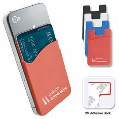 """Silicon Cell Phone Wallets.  Economy Custom Polyester Lanyards 3/4"""" (20 Mm) Wide. abetteridea.com 401-841-5646 #promotionalgifts #tradeshow #tradeshowitems"""