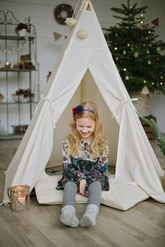 Tipi Tent for Kids, Wigwam Childrens Play Tent, Kids Teepee, Tepee from Natural Canvas Childrens Play Tents, Kids Tents, Teepee Kids, Indoor Tent For Kids, Indoor Tents, Kids Wigwam, Aspen Wood, Trendy Colors, Kids Playing