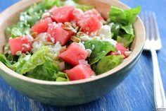 Watermelon, Feta and Pepita Salad with a Sweet Lime Vinaigrette