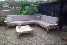 Modulaire loungebank. Ideaal voor een dagje zonnen of voor het genieten van een lange zomeravond.