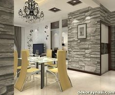 office wallpaper office wallpapers wallpaper for office space office room wallpapers wallpaper office plans office wallpaper workspace wallpaper for office living room Office Wallpaper, Kitchen Wallpaper, Wallpaper Decor, Kitchen Table Makeover, Kitchen Decor, Kitchen Tiles, Kitchen Utensils, Grey Dinning Room, Bookshelves For Small Spaces