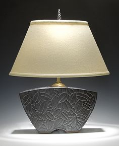 Keystone Lamp: Jim and Shirl Parmentier: Ceramic Table Lamp | Artful Home - The shapes on this lamp are some how very soothing.