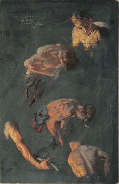 Everett Shinn, American, 1876 - 1953 Studies for Mural in Council Chamber, Trenton City Hall, 1911 Pastel on cardboard x cm. Ashcan School, Most Famous Artists, Drawing Studies, Pastel Drawing, Modernism, American Artists, Artist At Work, Figure Drawings, Creatures